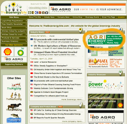 Banner advert top right of home page
