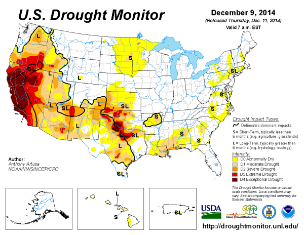 usda drought monitor