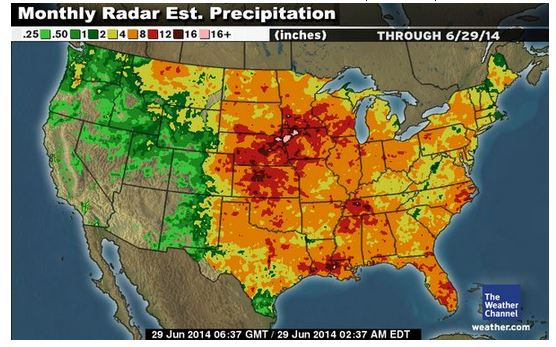 Weather Channel's Monthly Precipitation