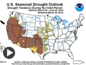 NOAA Forecasts Flooding in Midwest; California, SW Stay in Drought